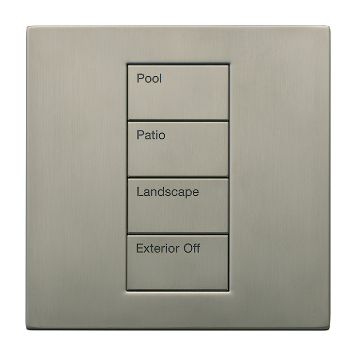 Product Photo of a Palladiom Lighting Control Keypad in Satin Nickel