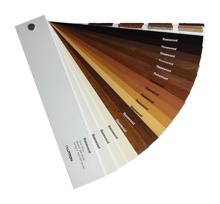 Lutron Wood Blinds Sample Deck
